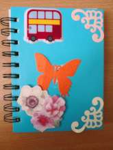 Note book decorated by the children