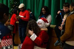 Every child received a gift from Santa