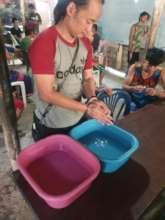Hand Washing Station at Mae La Camp DARE Centre