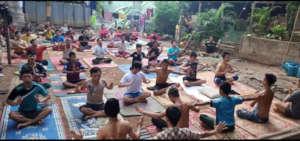 Yoga therapy at Mae La Camp