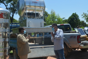 Delivery of hand washing system