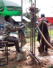 New Water Well Being Drilled in Rural Cambodia