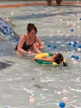 Swimming with the kids, pleasure for body and soul