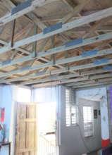 Interior Yolanda's finished roof