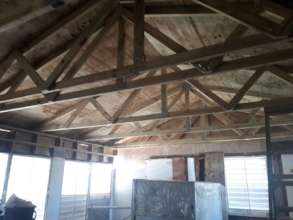 Raul's Roof Under Construction - Interior View