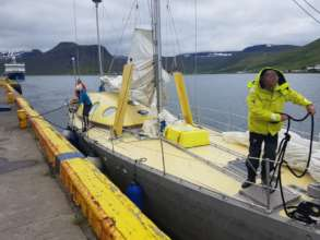 22.07.18 Casting off from Isafjordur, Iceland