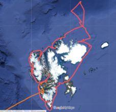 Nanuq's circumnavigation of Svalbard archipelago