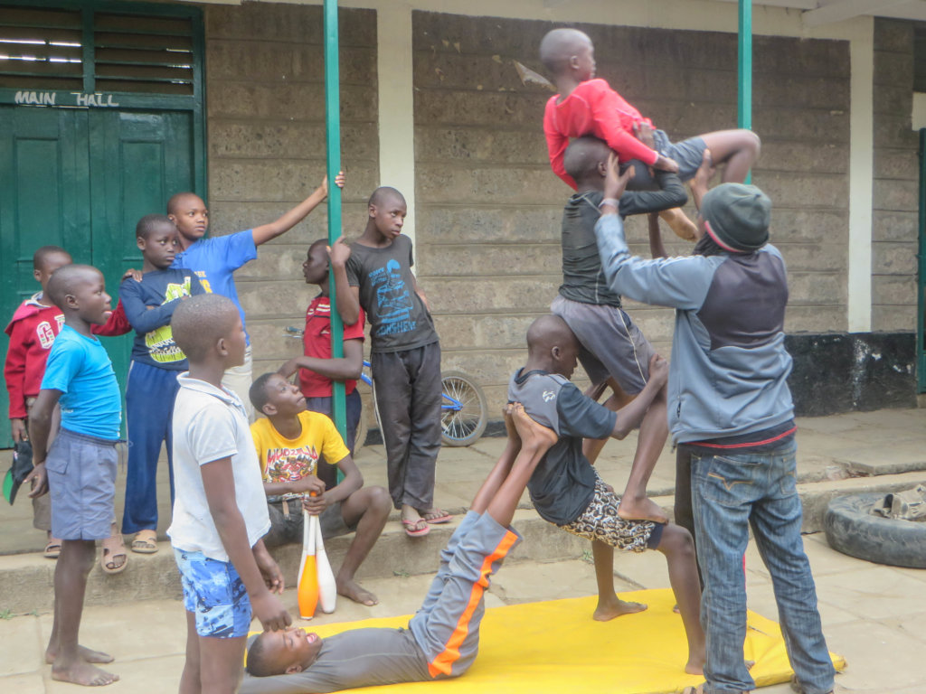 Acrobatics for Children in Kayole
