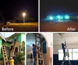 Electrical rewiring, New Life, Ghana
