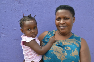 Mary with her healthy and HIV-negative Lillian