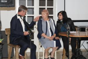 Swiss ambassador moderates panel with Samira Azzam