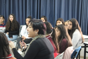 Kayan staff give youth workshops