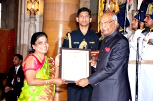 Nari Puraskar Award by the President of India