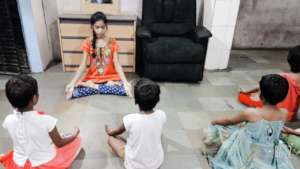 Children Home : Practicing Yoga for a good health