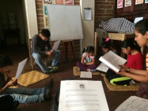 "Our younger students read ""A Head Full of Colors"""