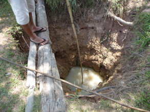 Traditional Surface Pit Well in Rural Cambodia