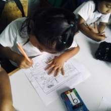 Leslie in class