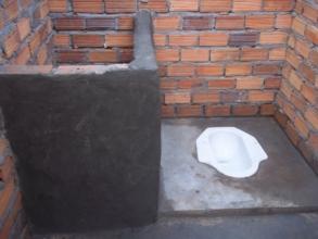 Upgraded latrine building
