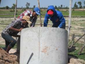 Placing The Holding Tanks For A Latrine