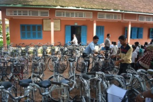 Bicycle delivery to the school