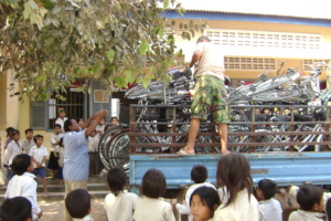 Truck load of bicycles for distribution