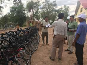 A bicycle delivery