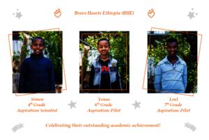 Simon, Yonas and Leul score excellent grades