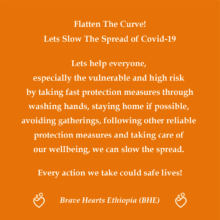 BHE awareness message on COVID-19