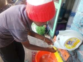 Maraki showing hand washing prevention of COVID-19