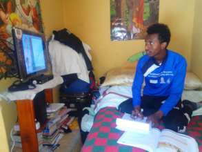 Leul in his new home following education on TV