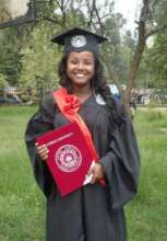Bogalech as she graduated this summer