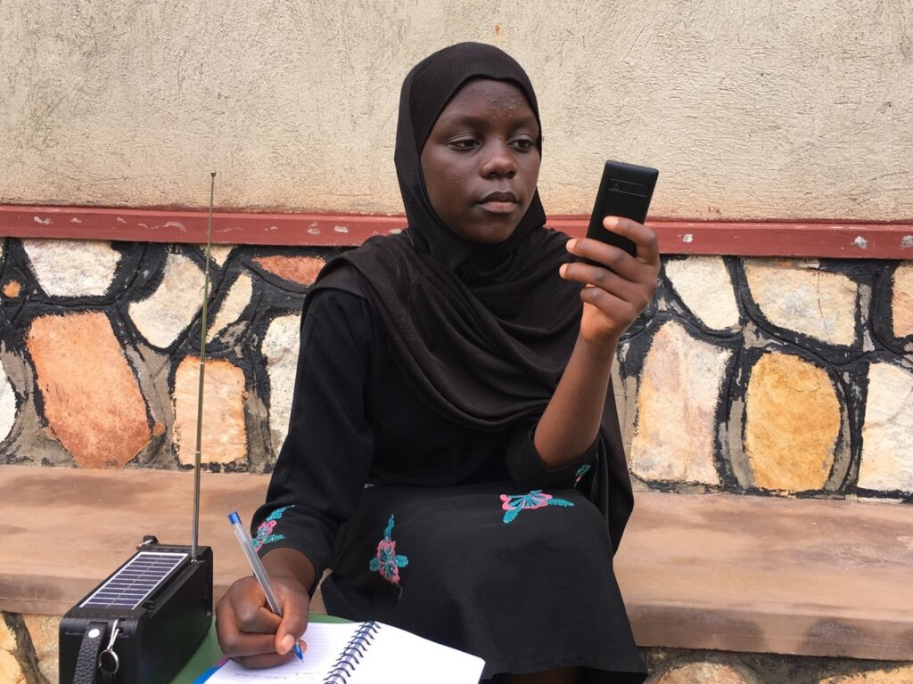 Educating 100,000 out of school kids via radio&SMS