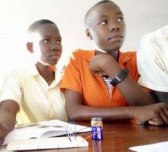 Students learning basic electronics