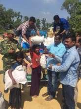 Food distribution among the Rohingya