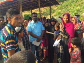 Counting of Rohingya for food Distribution