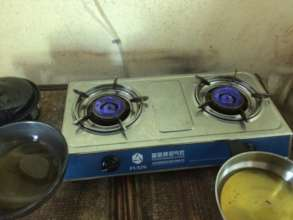 Biogas burners ready to cook