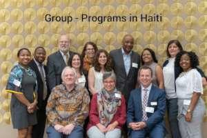 Seminar participants with active programs in Haiti