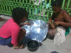 Jacmel - cooking on solar despite COVID-19