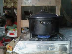 Cooking with biogas in Haiti