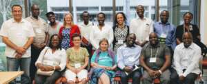African collaborators at a conference last August