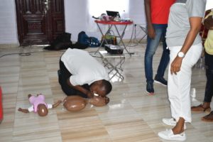 Participant in action - practical practice!