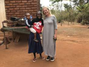 Visit to a student in a village far away