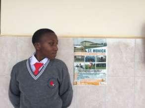 Proud secondary school student