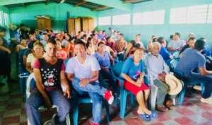 1st Community Meeting in Quebrada Grande, Cedros.