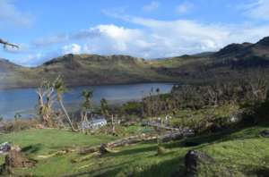 Two-weeks after Cyclone Winston hit the village.