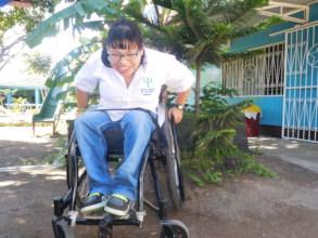 Heimy strengthening her mobility skills