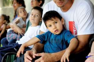 Children are waiting for wheelchairs in Nicaragua