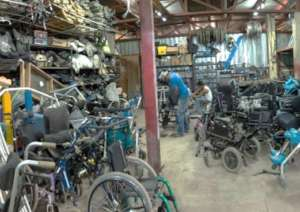 our wheelchair workshop