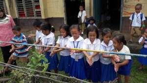 Washing facility at Panglima Indanan Elementary