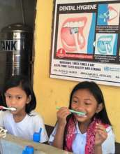 Teeth brushing w/ clean water for good health